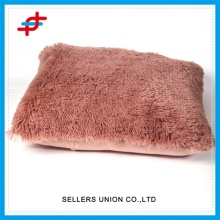 Home Fashion Polyester PV Fleece Plain Cushion