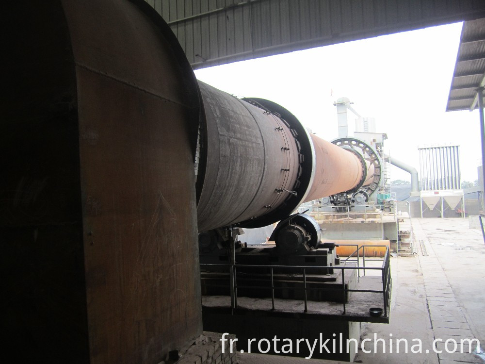 Limonite rotary kiln production line