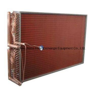 Tipo del tubo de la aleta Intercambiador de calor del aire del tubo de cobre para el enfriamiento de aire