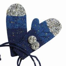 Леди мода акриловые трикотажные зима теплая платье перчатки (YKY5423)