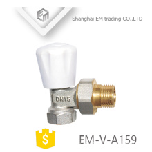 EM-V-A159 Male union lock shield brass Radiator thermostatic angle valve DN15
