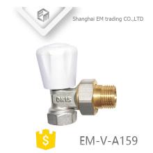 EM-V-A159 Masculino união bloqueio escudo latão Radiador termostática válvula de ângulo DN15