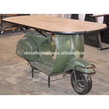 Industrial Reclaimed Old Scooter Bar Table