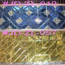 Empalmes de cristal de la baldosa del oro para la decoración de la pared