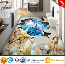 Piso 3d para azulejos de baño de porcelana azulejo de piso de cerámica 3d