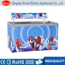 255L kommerzielle Deep Chest Display Kühlschrank und Gefrierschrank