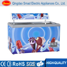 255L commercial Deep Chest display refrigerator and freezer