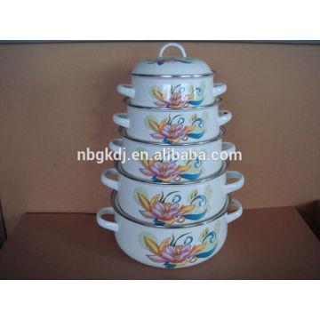 enamel storage bowl set