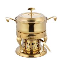 Prato de aquecimento por atrito de luxo de aço inoxidável do bufete de aço inoxidável quente da caixa do estilo europeu