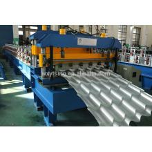 Schlussverkauf! SPS-Steuerung und hydraulische Station / passierte CE und ISO / vollautomatische Metallblech Dachziegel Rollenformmaschine Preis