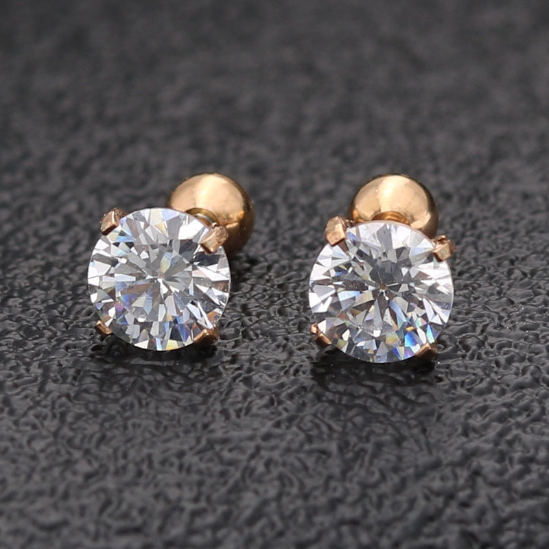 High Quality Cubic Zirconia Stud Earrings