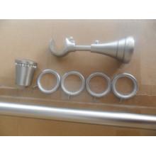 Satin Nickel Silent Cortina Rod Anéis com clipes