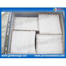 Lámina de PVC blanco y duro extruido