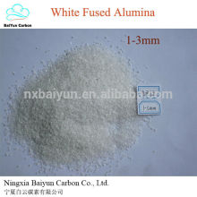 corindon naturel prix 99.5% Al2O3 abrasif en acier polissage WFA blanc alumine fondue
