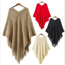 2017 Fashion Sweater Wool Poncho Wholesale Peruvian Alpaca Wool Poncho