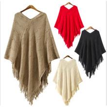 2017 Мода Свитер Шерстяной Пончо Оптом Перуанские Альпака Шерсть Пончо