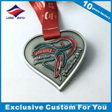 Medalha de Niquelado em forma de coração