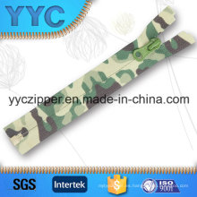 # 5 Open End Camouflage Custom Impresión Nylon Zipper Tape