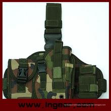 Componente táctico militar Molle gota pierna pistola pistolera Combo funda Woodland Camo