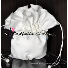 Europa popular nupcial estilo feminidad blanco mini bolso con cristal de diamantes de imitación perla en el matrimonio