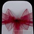faixa de cadeira no atacado organza de claret chique para hotel do banquete de casamento