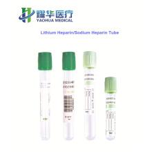 Lithium heparin and sodium heparin blood collection heparin tube