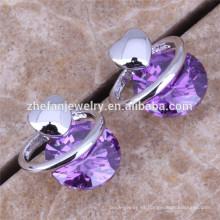 Fashion cubic zirconia pendiente pendiente de la joyería de la piedra preciosa