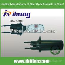 Cierre de empalme de fibra óptica vertical de 3 entradas / 3 bóvedas