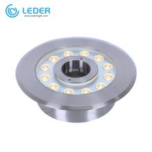 Luz LED para piscina exterior de acero inoxidable 15w LEDER