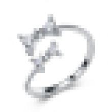 Girl's 925 Sterling Silver Cute Bow Opening Ring Regalos para el Día de San Valentín