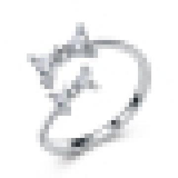 Boucles d'ouverture d'arc en maille 925 en argent sterling de fille de la jeune fille Cadeaux de la Saint-Valentin