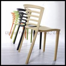 Chaise en plastique empilable en plastique de chaise de café (sp-uc295)