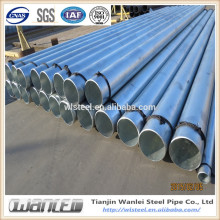 astm a53 ms seamless round galvanized pipe