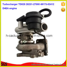 Td025 D4ea Engine Turbo 28231-27000 49173-02410 49173-02412 Turbocharger for Hyundai