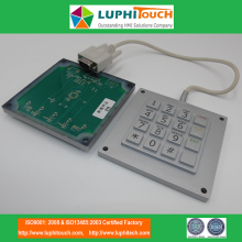 Silicone Rubber Keypad Wraping Boarder Integrated Assembly