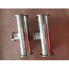 304 / 316L em aço inoxidável Sanitária Special Reducer Clamped Tee