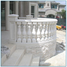 Outdoor White Marble Balustrade for sale