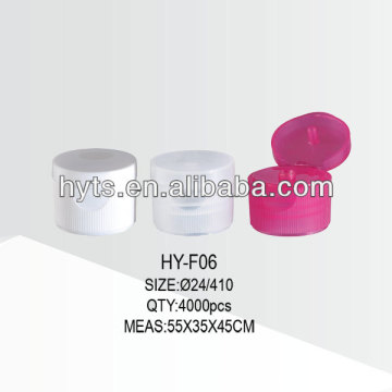 24/410 plastic tube flip top cap
