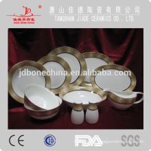 2014 nouvellement conçu 60pcs 61pcs 72pcs dinning ensemble AB classe perle Royal porc chinois set de vaisselle