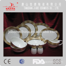 2014 newly designed 60pcs 61pcs 72pcs dinning set A B grade pearl royal bone china dinnerware set