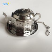 Infuseur à thé en forme de théière avec plateau