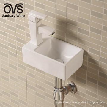Meilleure vente chaude produit mur accroché salle de bains lavabos vasque en céramique