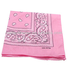 Unisex 100% Cotton Hip-hop Bandanas Head Scarf Made in China