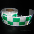 Safety clothing PVC tape reflective checker tape 3 row