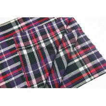 T / C fios tingidos verifica roupa grossista tecido camisa
