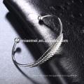 YIWU wholesale athenaa jewelry Bangle Platinum feathers bracelet women