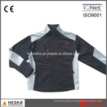 Color Contrast Work Equipment Softshell 3layer Jacket