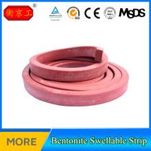 Rubber bentonite water absorbent strip