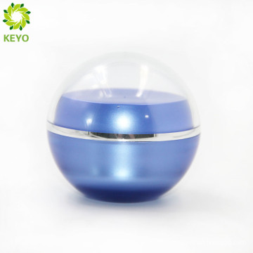50ML 100MLround ball foundation plastic glass jar and bottle containers for cream