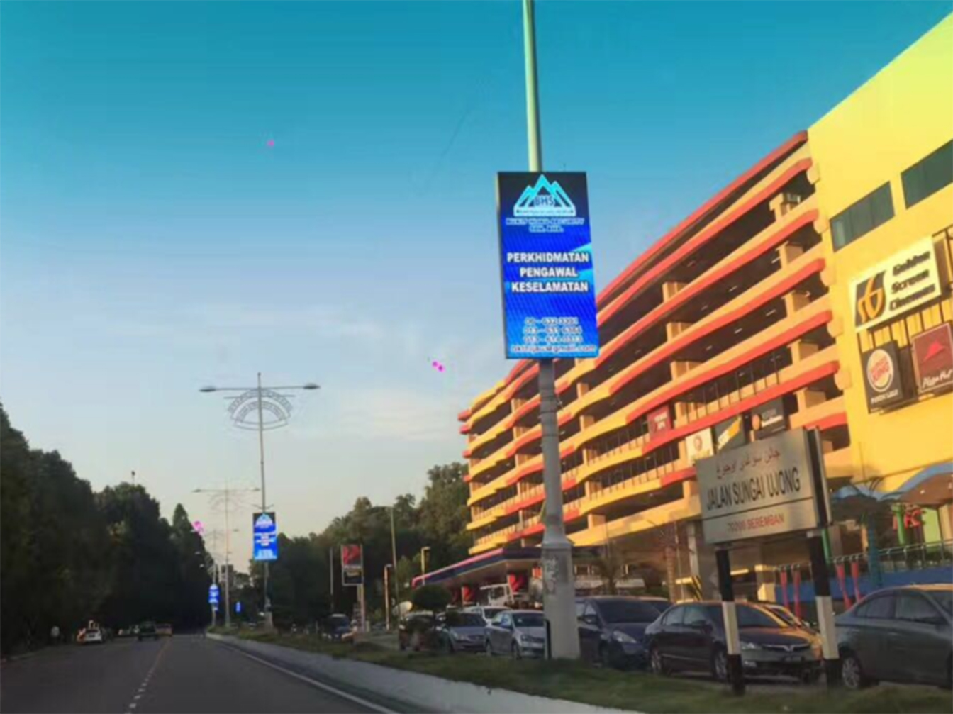 Led Display Board For Street Pole